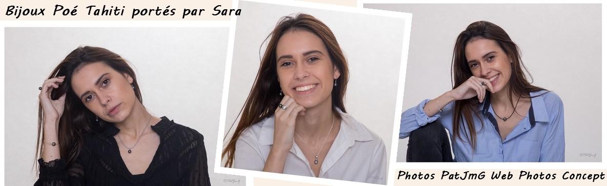 Sara, mannequin pour le site de vente en ligne de bijoux en argent et perle de culture Poé Tahiti